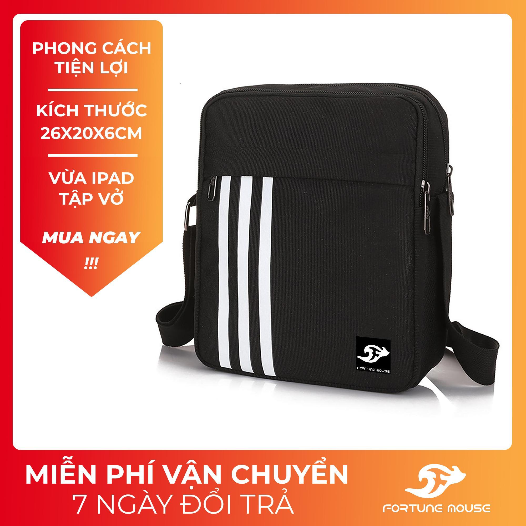 Túi đeo chéo vai nam nữ đựng Ipad có 2 NGĂN KÉO 26x20cm Fortune Mouse C303 / C302