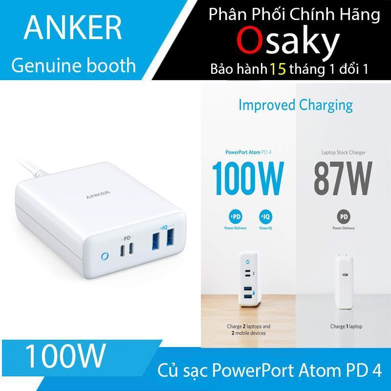 ( bảo hành 15 tháng ) Củ sạc Anker PowerPort Atom PD 4 USB-C Charger 100W