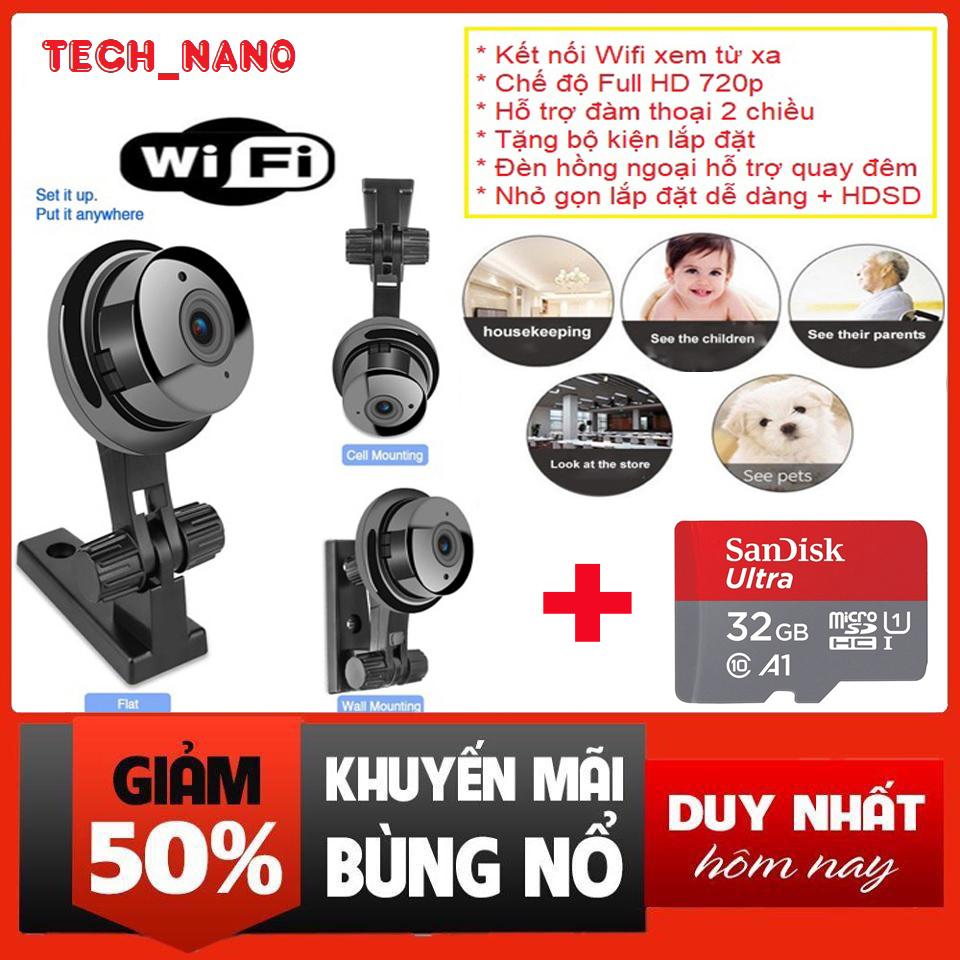 [BẢO HÀNH 2 NĂM] Camera wifi yoosee V380 - Camera wifi trong nhà, ngoài trời FULL HD 1080P xem trên Điện Thoại 3g 4g 5g giá rẻ hơn camera mini siêu nhỏ - Camera Giám Sát -  camera an ninh