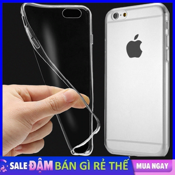Ốp silicone dẻo trong suốt Iphone 5 5S - 6 6S - 6PLUS - 7 7 PLUS