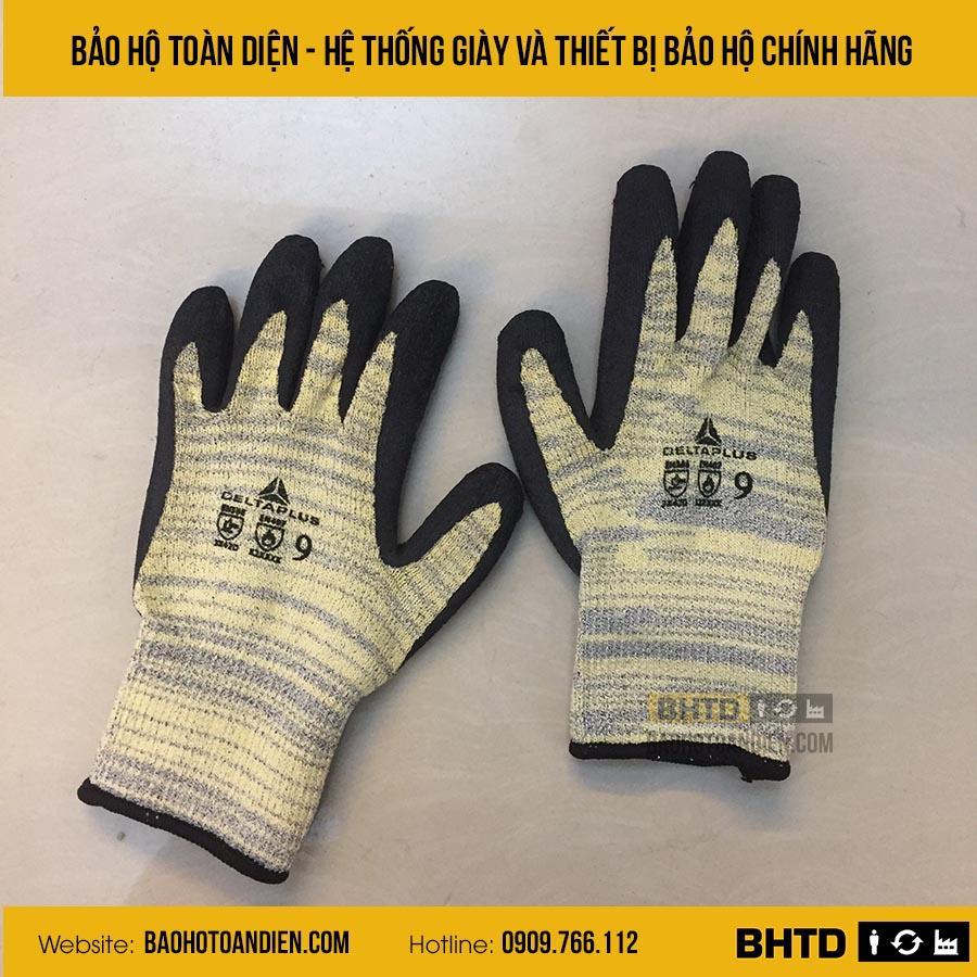 Găng tay chống cắt cấp 5 chịu nhiệt 250 độ C Deltaplus Venicut52
