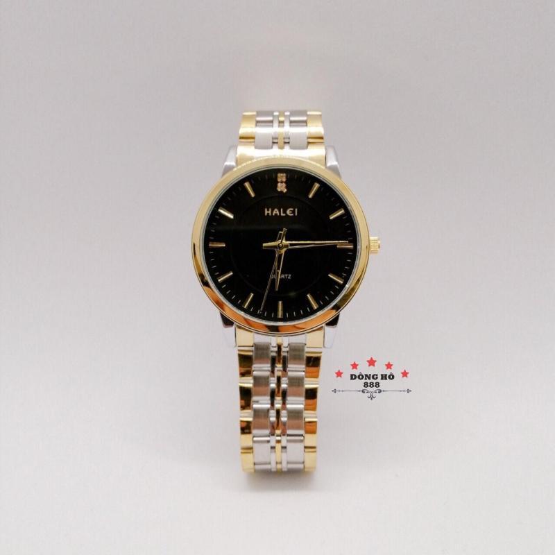 Đồng hồ nữ HALEI dây kim loại thời thượng ( HL552 dây demi mặt đen ) - Kính Chống Xước, Chống Nước Tuyệt Đối, Mạ PVD Cao Cấp Chống Gỉ Chống Phai Màu Thời Trang Hottrend 2020