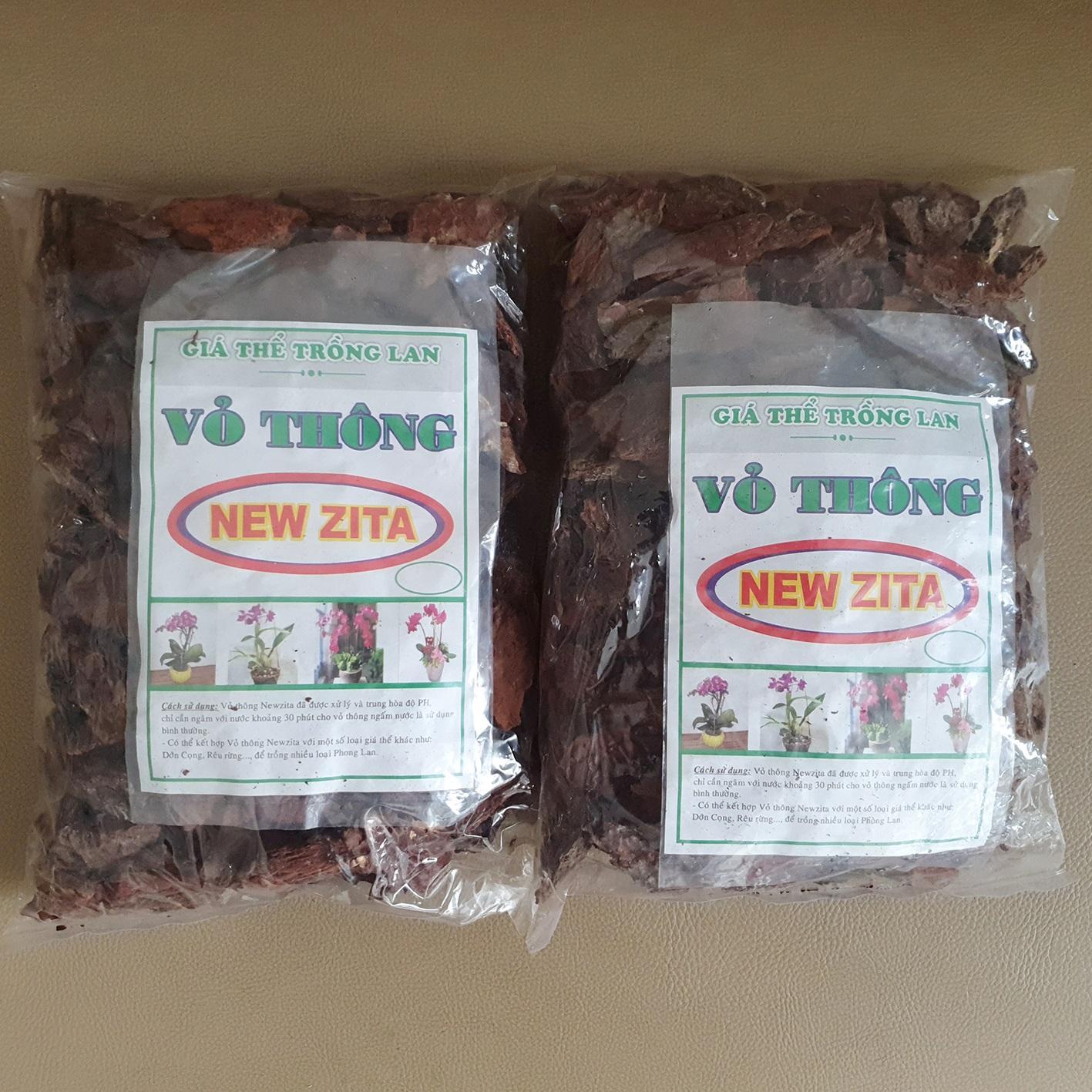 02 gói vỏ thông New Zita trồng lan đã qua xử lý (500gr/gói)