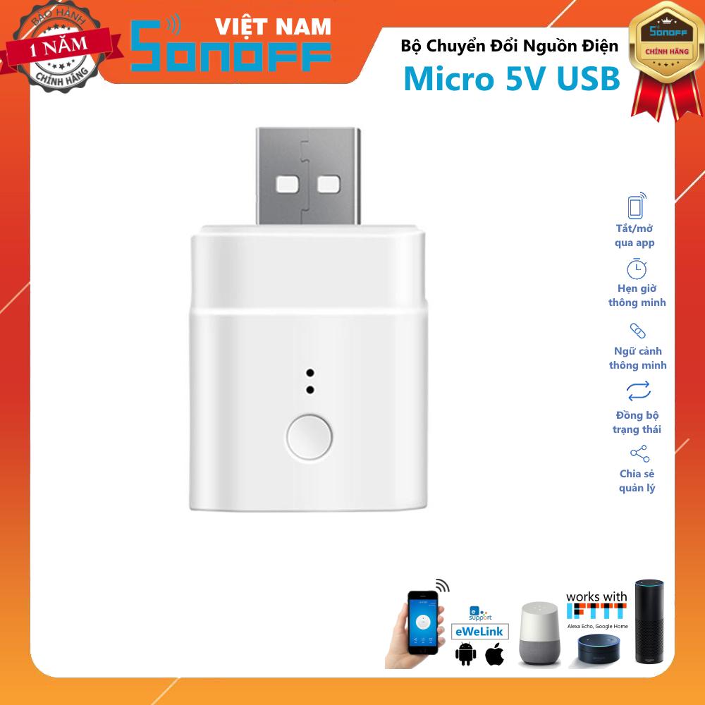 Cơ Hội Giá Tốt Để Sở Hữu Bộ Chuyển Đổi Nguồn Điện Sonoff Micro 5V USB