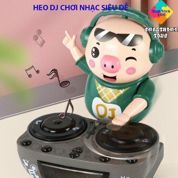 Heo Phát Nhạc - Chú Heo Chơi DJ Năng Động Siêu Dễ Thương Nhảy Theo Nhạc Và Đèn Cho Bé