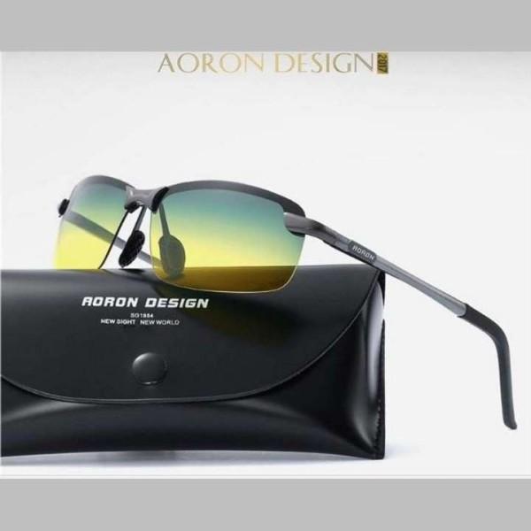Giá bán Kính phân cực đi đường ngày và đêm thời trang nam chất liệu hợp kim và palaroid cao cấp AORON 3043RY