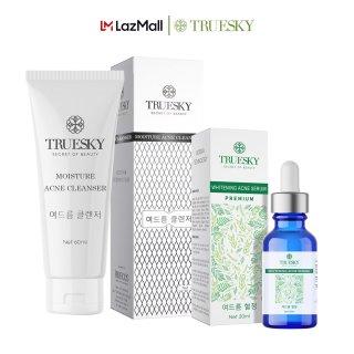 Bộ sản phẩm giảm mụn Truesky gồm 1 serum giảm mụn tràm trà 20ml + 1 sữa rửa mặt than hoạt tính 60ml thumbnail