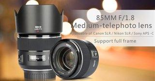 (CÓ SẴN) Ống kính Meike 85mm F1.8 Auto Focus For Canon và Sony (MF) - Chính Hãng Bảo Hành 12 Tháng thumbnail