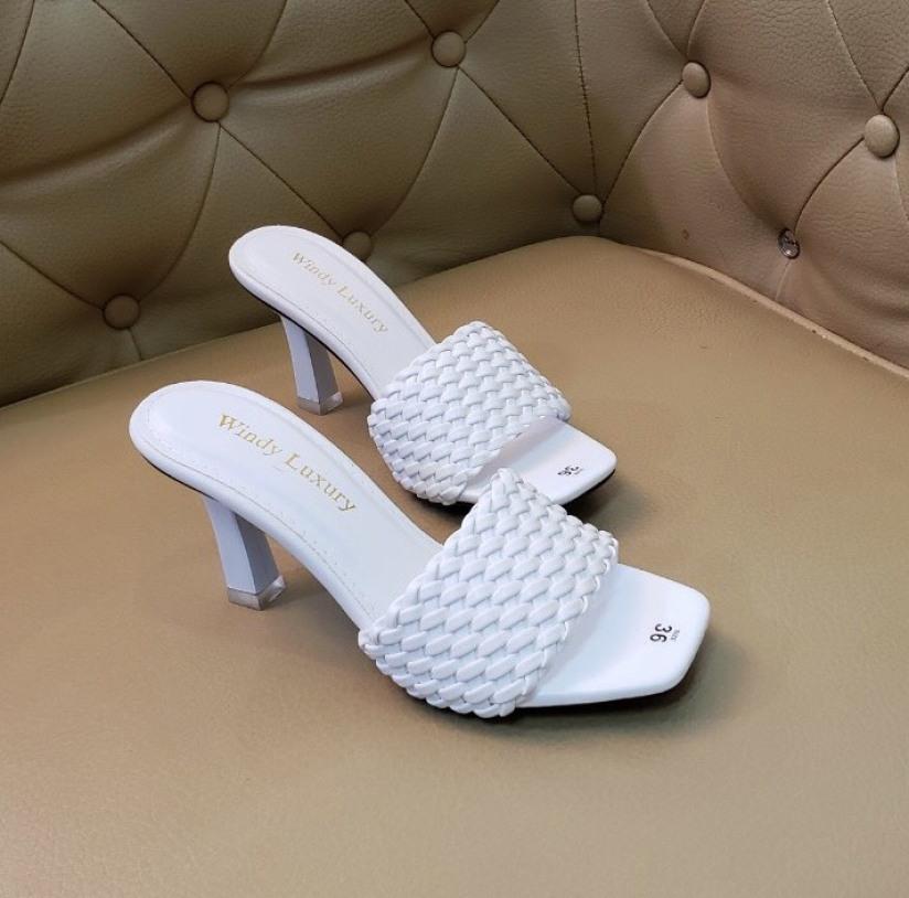 Guốc quai ngang bện giày nữ đẹp hót nhất năm 2020 giày đi tiệc giá rẻ