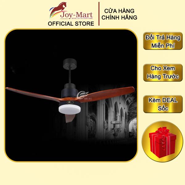 Đèn Quạt Trần Cánh Gỗ - JOYMART - Quạt Trần 3 Cánh Gỗ Cao Cấp, Điều Khiển Từ Xa, Động Cơ Đòng Nguyên Chất, Chạy Êm Ái Cực Mát MQT9287