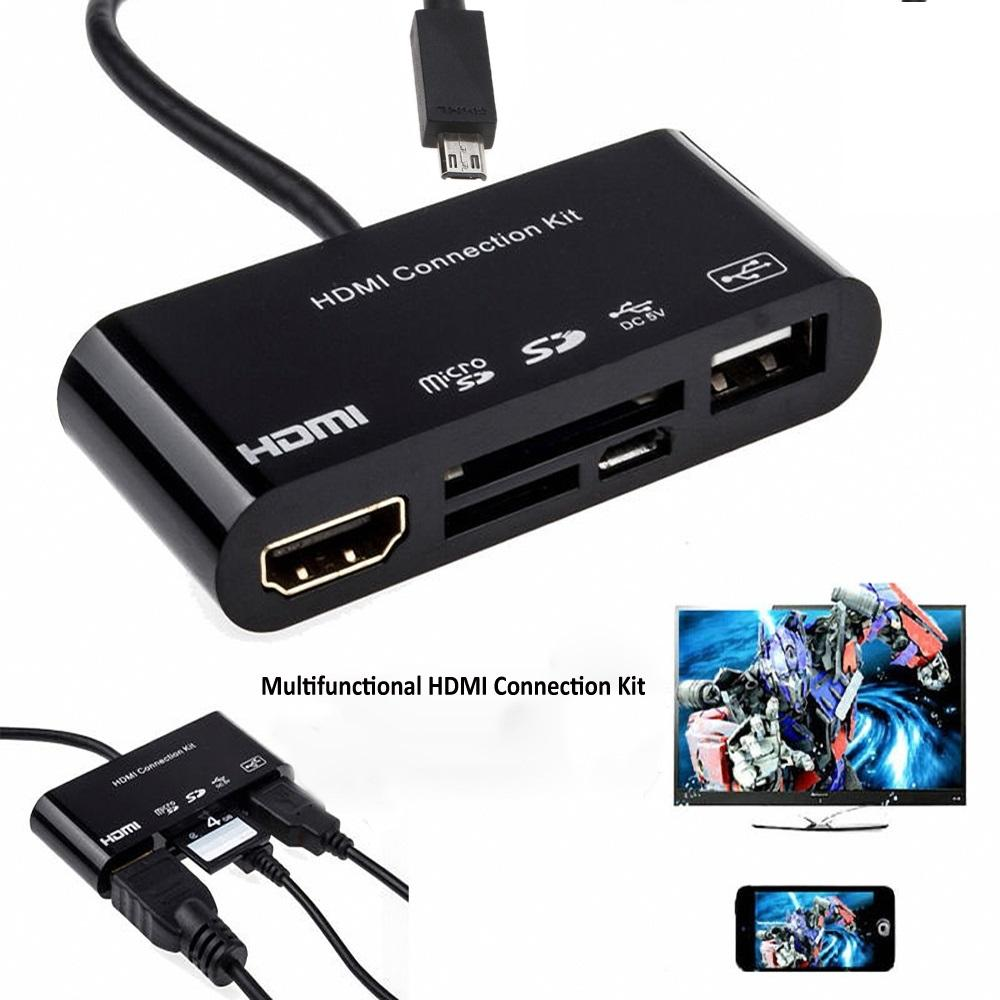 Cáp HDMI kit 5 in 1 cho Điện thoại Galaxy S3 S4 S5 Note2 Note3