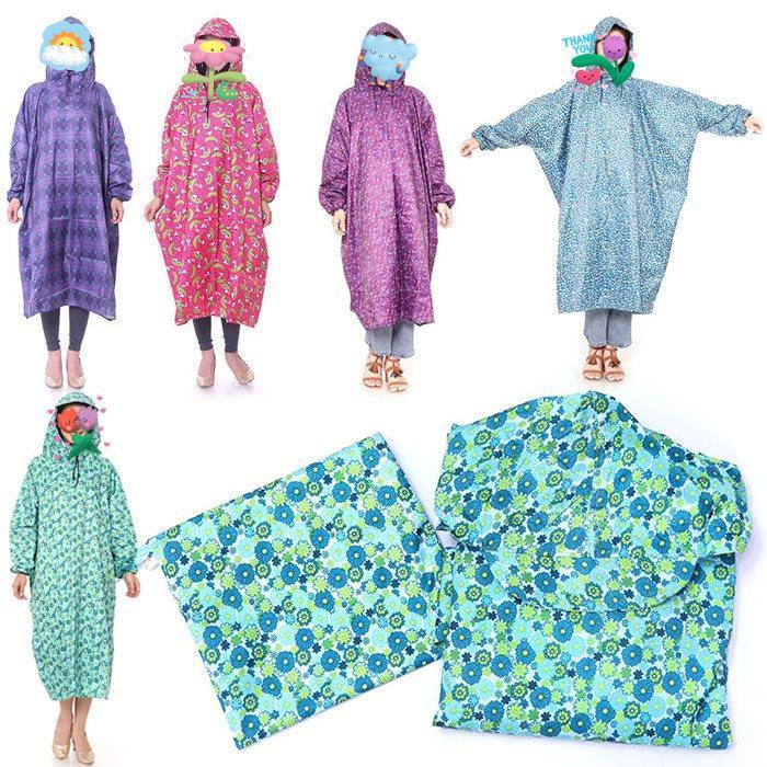 Áo mưa bít BÔNG vải dù không xẻ tà chống thấm tốt
