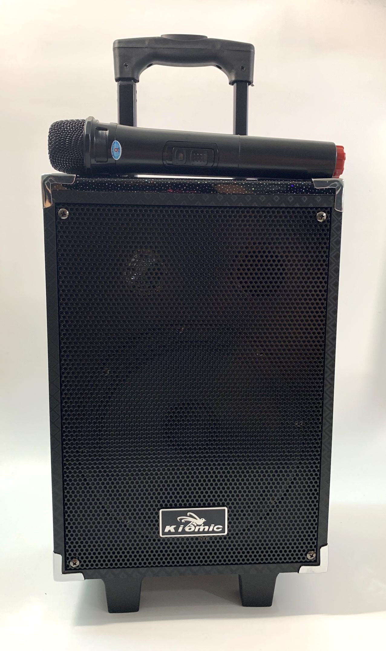 Loa Kéo KIOMIC Q8 100W Tặng Micro Không Dây- Loa Vali Kéo Di Động Bluetooth Karaoke Âm Thanh Cực Đỉnh(Công suất lớn)