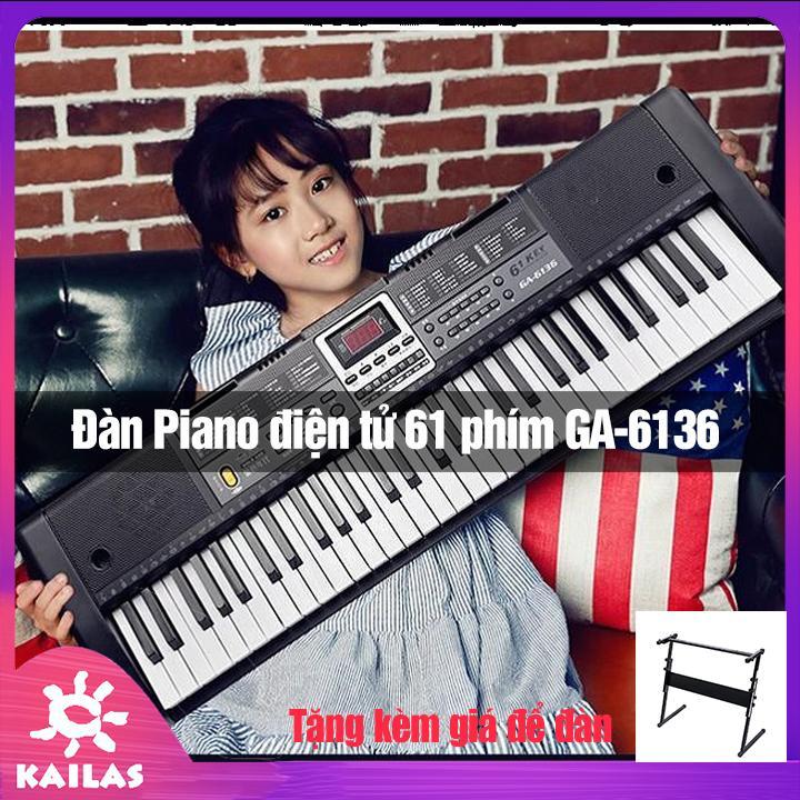 [KÈM GIÁ ĐỂ ĐÀN] Đàn Piano Điện Tử 61 Phím Cao Cấp, Đàn Organ Điện Tử - Kèm Mic Dành Cho Trẻ Và Người Mới Tập Đàn, Kích Thích Trí Thông Minh- Kailas