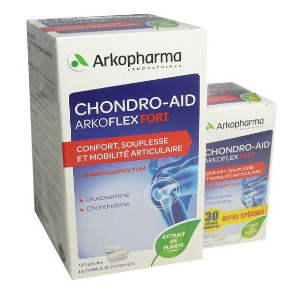 Viên uống hỗ trợ xương khớp Viên Uống Chondro- Aid của Pháp Set 120v tặng kèm 30v giá rẻ