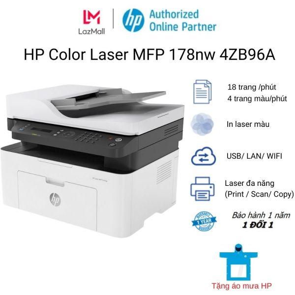 Máy in màu đa năng HP Color Laser MFP 178nw (4ZB96A)
