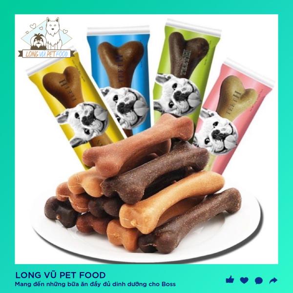 Xương nhai ăn vặt cho chó mèo chống cắn phá Yaho túi 25g - bánh thưởng cho chó Yaho - Long Vũ Pet Food