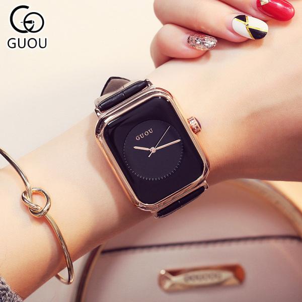 Đồng hồ Nữ GUOU APPLE Dây Mềm Mại đeo rất êm tay - Kiểu Dáng Apple Watch 40mm - Chống Nước bán chạy