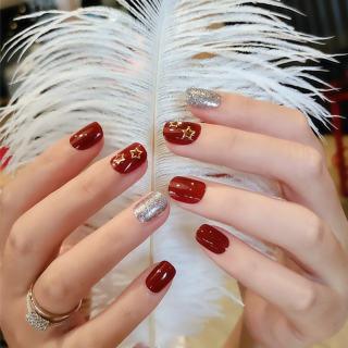 Bộ 24 Móng tay giả , nail giả A129 (Tặng kèm keo dán móng tay) thumbnail