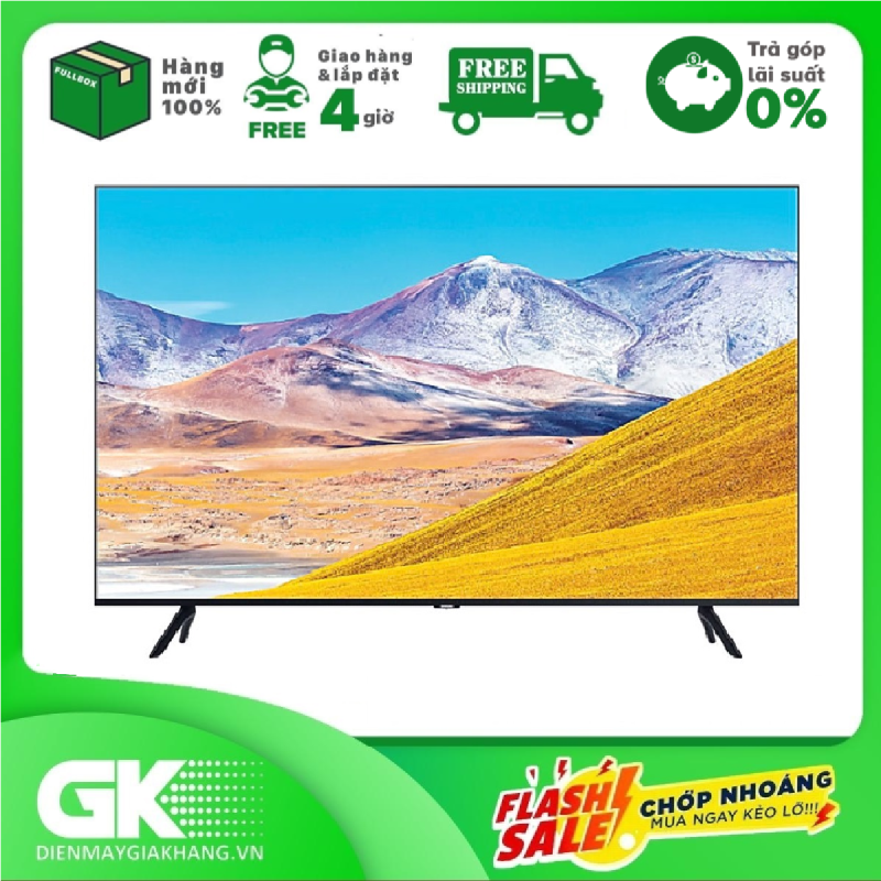 [GIAO HÀNG 2 - 15 NGÀY, TRỄ NHẤT 15.08] [Trả góp 0%]Smart Tivi Samsung 4K 65 inch UA65TU8100 chính hãng
