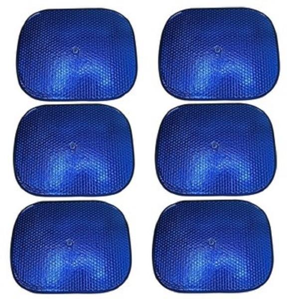 Combo 6 tấm che nắng ô tô, 6 màn cửa che nắng xe hơi, chắn tia UV đến 100%, chắn ánh sáng vào xe đến 99% có khung sắt cứng cáp