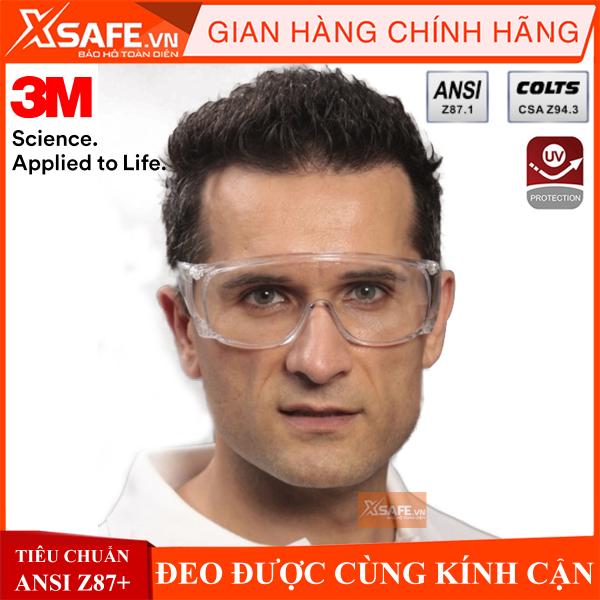 Giá bán Kính bảo hộ 3M Tour-Guard V - kính chống bụi-chống hóa chất-tia UV đeo được cùng kính cận