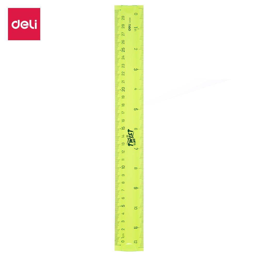 Mua DELI Thước kẻ nhựa dẻo EcoPVC Xanh dương/Xanh lục/Đỏ - 1 chiếc - E6209