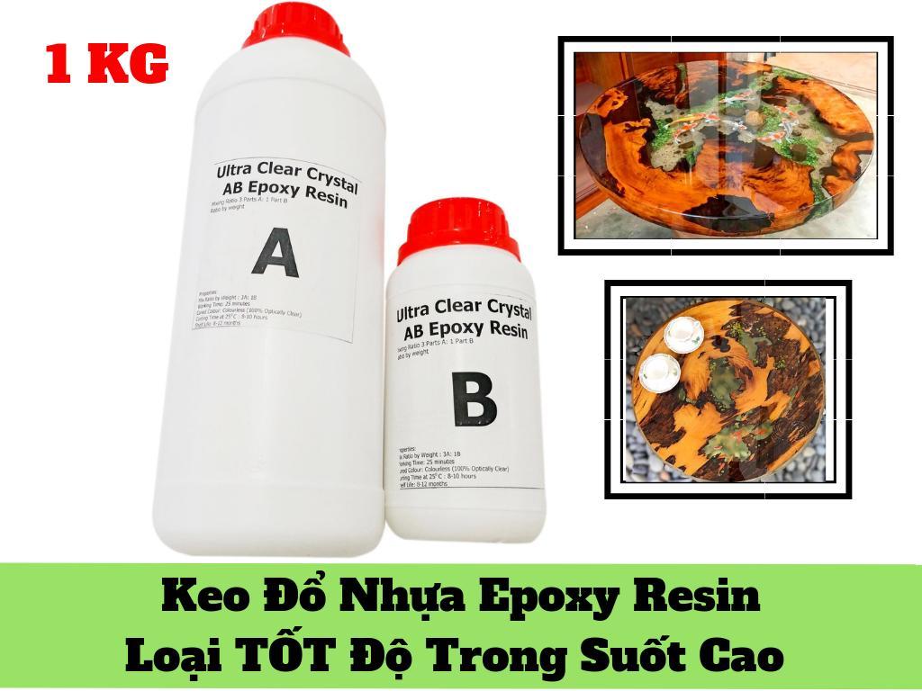 Keo đổ nhựa Luồn Khuôn Tranh 3D Cao Cấp Epoxy Resin Ultra Clear DTAB2 1kg