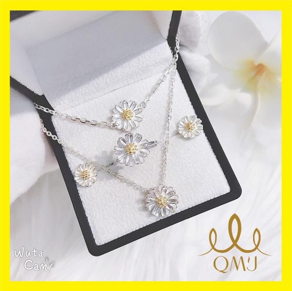Bộ trang sức bạc QMJ Cúc hoạ mi xinh xắn, xu hướng Hottrend 2020, bộ thời trang nữ [BẠC CHUẨN] B001
