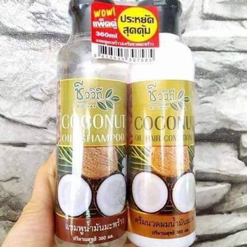 BỘ DẦU GỘI + DẦU XẢ DỪA COCONUT Thái Lan tốt nhất