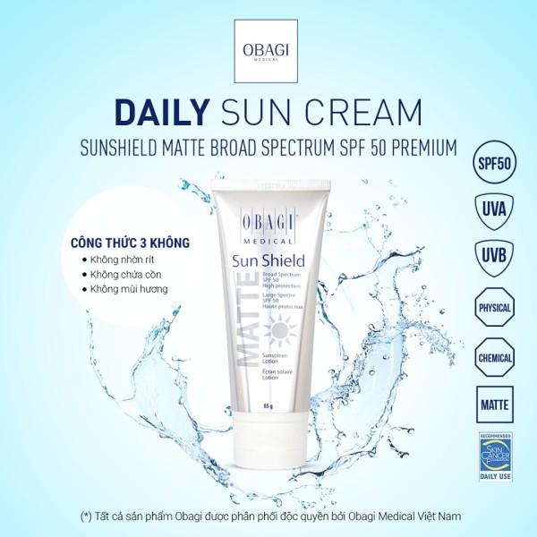 Kem chống nắng Obagi Sun Shield Matte Broad Spectrum SPF 50 Premium(85g)