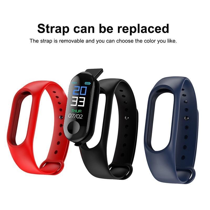 Đồng hồ thông minh, Vòng đeo tay thông minh Smart Band M3, Smart Band M4 Đo Nhịp Tim kết nối Bluetooth. Vòng Theo Dõi Sức khỏe, Vòng Theo dõi vận động, Chống thấm nước ipx5, Chất lượng hơn Đồng hồ Trẻ Em USA - Chống Sốc & Chống Nước Tốt