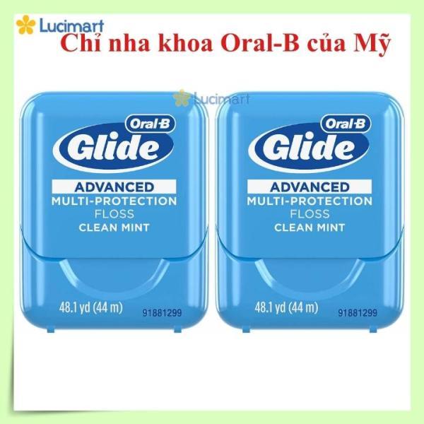 [Hàng Mỹ] Combo 2 hộp chỉ nha khoa Oral B Glide Pro-Health (44mx2) giá rẻ