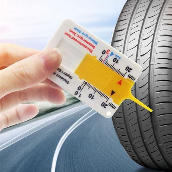 CHIZHUA Sửa chữa với Keychain 0-20mm Phụ kiện xe hơi Cung cấp đo lường Công cụ đánh dấu Thước đo độ sâu mẫu lốp Độ sâu lốp xe ô tô Đo độsâu Chỉ báo độ sâu
