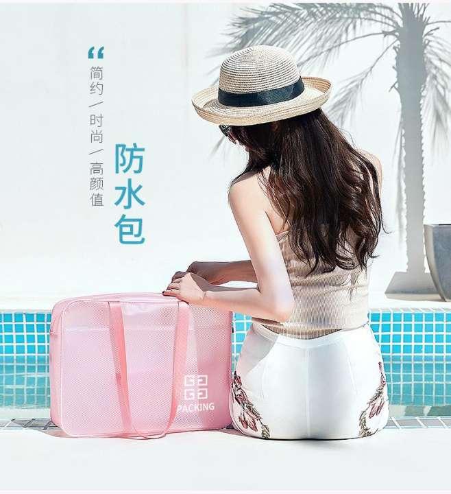 Travel Transparent Beach Bag Water Proof Bag Dry Wet Separation Swimsuit Storage Bag Men S And Women S Fitness Bag Wash Bag Swim Bag Lazada