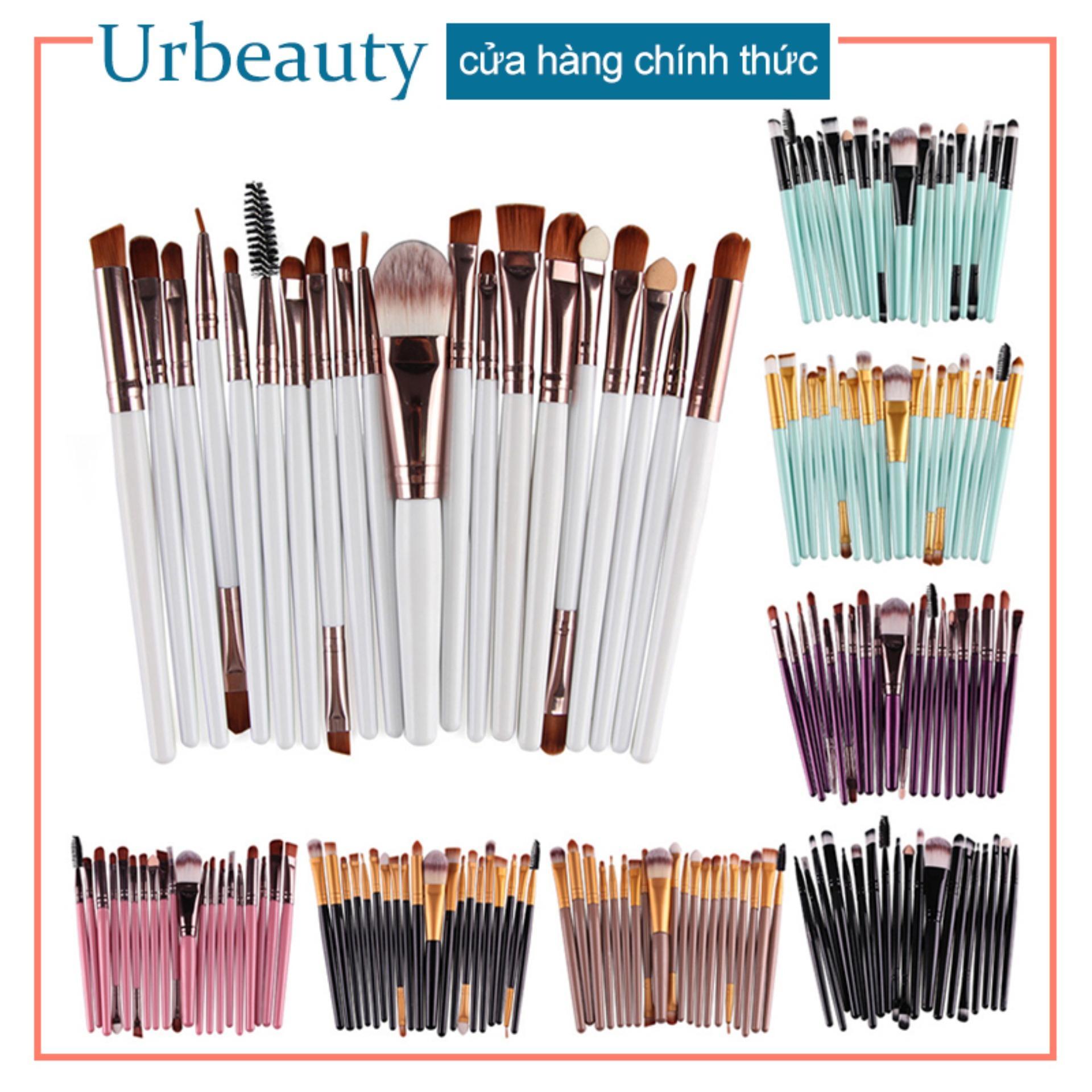 【Urbeauty】20pcs MAANGE Bàn chải trang điểm mắt cọ bóng mắt công cụ làm đẹp nhập khẩu