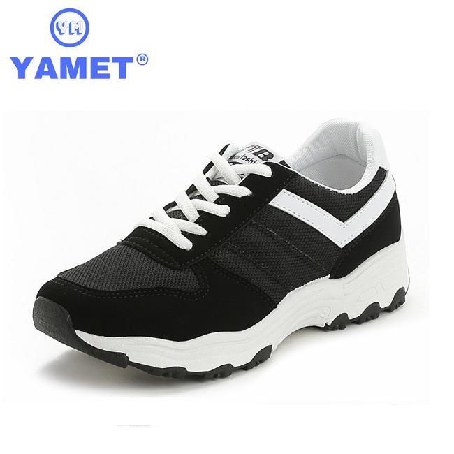 Giày Sneaker Thể Thao Nữ YAMET Siêu Hot Y3-685B Màu Đen Nhật Bản