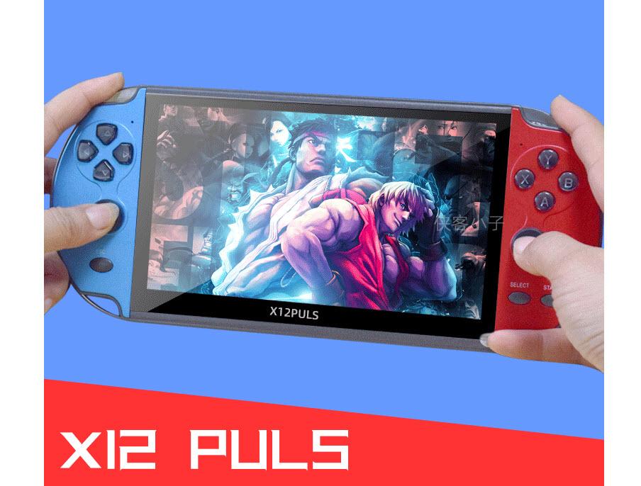 Máy chơi game X12 PLUS 16GB màn 7 inch - Chơi game PS1 và 10 hệ máy, chép sẵn hơn 10.000 game