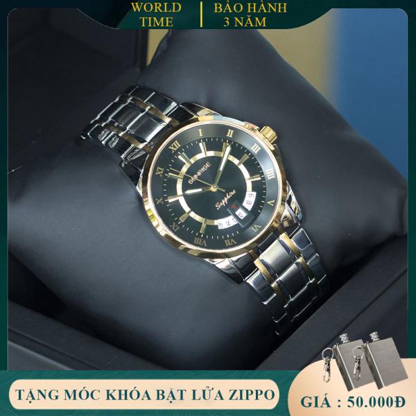 Đồng Hồ Nam Sunrise DM771SWA Full Box, Kính Sapphire Chống xước, Chống nước, Dây thép không gỉ 316L, Bảo hành toàn quốc 3 năm
