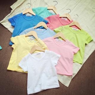 Áo thun cổ tròn dáng Basic cho bé chất liệu cotton thấm hút mồ hôi (6-16kg) thumbnail