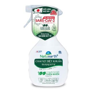 [HCM]Chai xịt diệt khuẩn Natuearth Plus ức chế Virus SARS-CoV-2 410ml - Dùng cho gia dụng và Y tế thumbnail