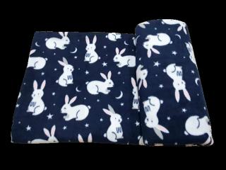 Mền nỉ cotton thái Thỏ Xanh thumbnail