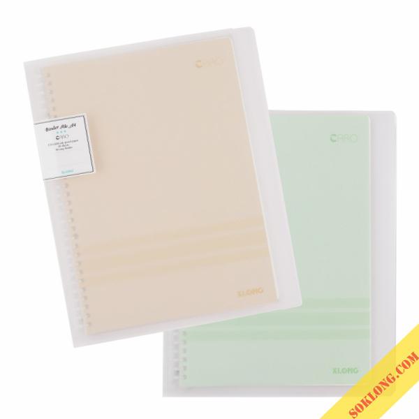 Sổ Klong Caro file nhựa kẹp còng A4 - 40 tờ MS554