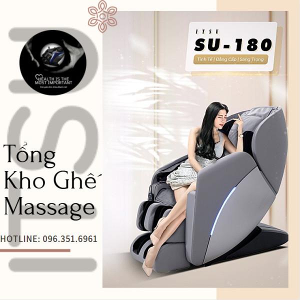 [ ITSU 2021 NEW] Ghế massage ITSU SU-180 liên động tự động massage toàn thân thời thượng quý phái trị liệu Nhật Bản