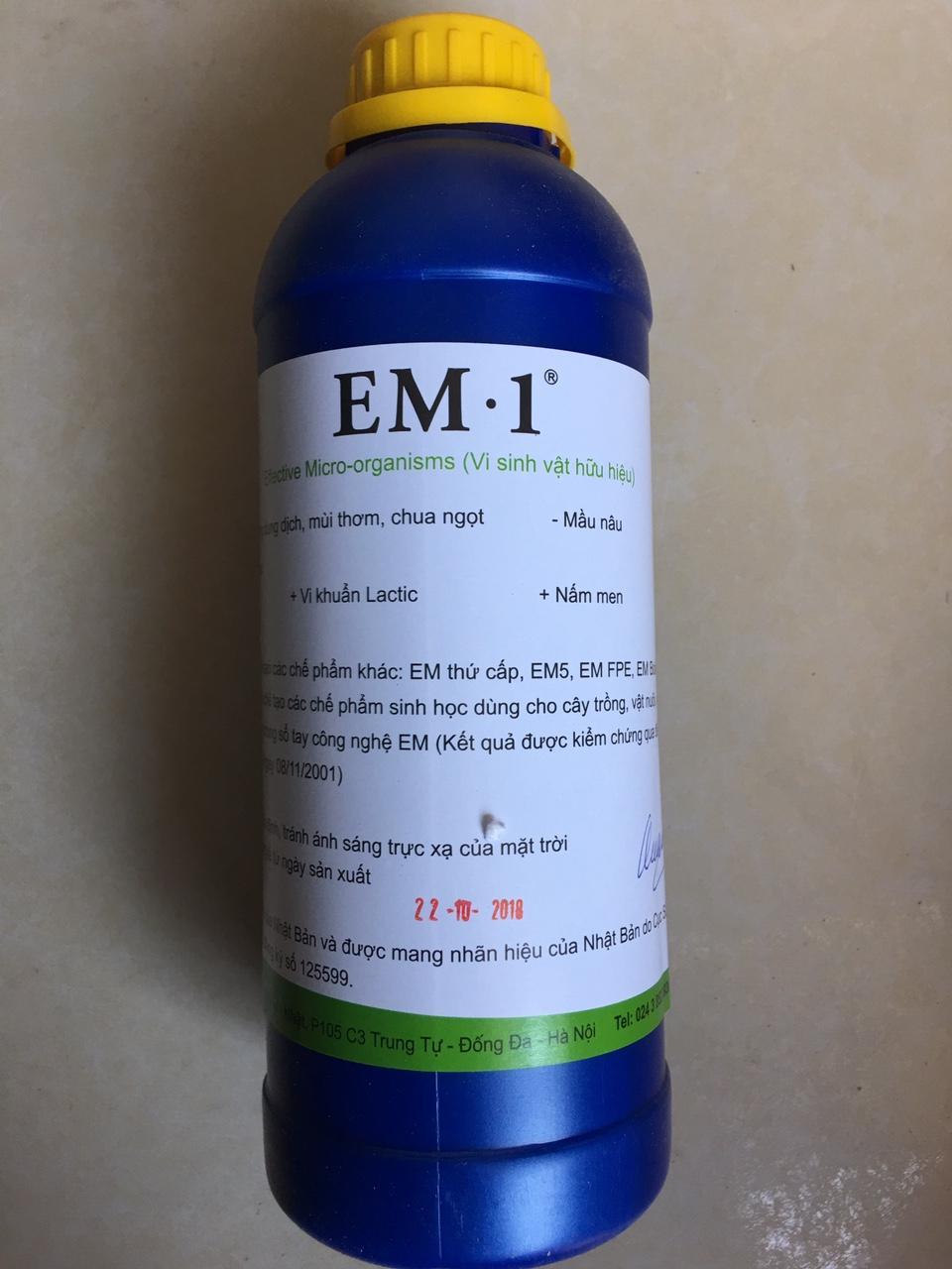 Chế phẩm EM gốc (EM1) chai 1L đến từ Nhật Bản