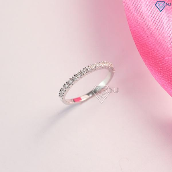 Nhẫn bạc nữ bản nhỏ đính đá đẹp NN0185 - Trang Sức TNJ