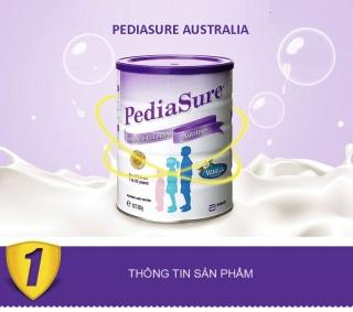 Sữa Abbot PediaSure Cho Trẻ 1-10 Tuổi 850g vị Vani Chính Hãng Của Úc thumbnail