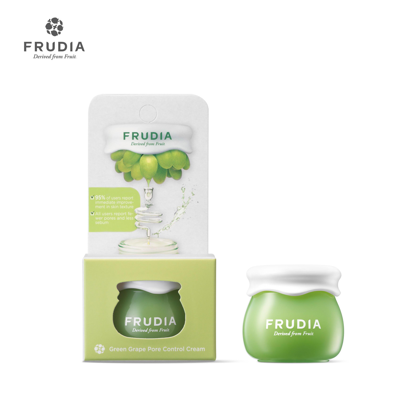Kem Dưỡng Ẩm Se Khít Lỗ Chân Lông Chiết Xuất Nho Xanh Frudia Green Grape Pore Control Cream Jar 10g Khuyến Mại Hot