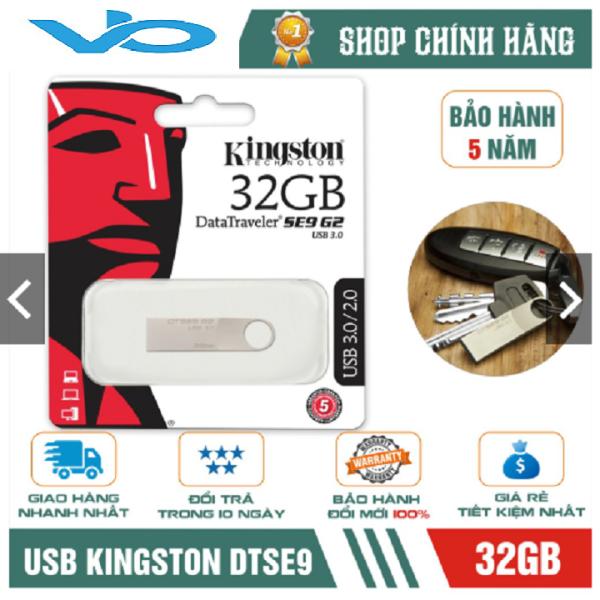 Bảng giá USB Kingston 3.0 DataTraveler SE9 G2 32GB - hợp kim (Bạc) Phong Vũ