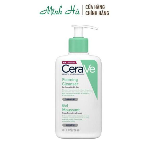 Sữa rửa mặt Cerave Foaming Facial Cleanser 236ml dành cho da thường và da dầu